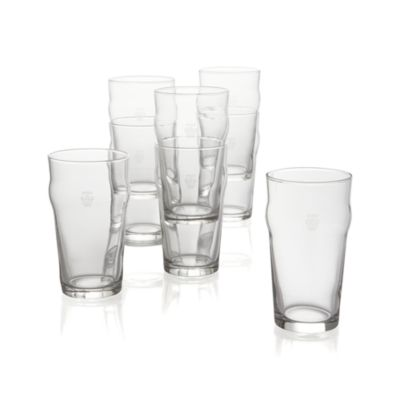 Set of 8 Pint Tumblers with Crown