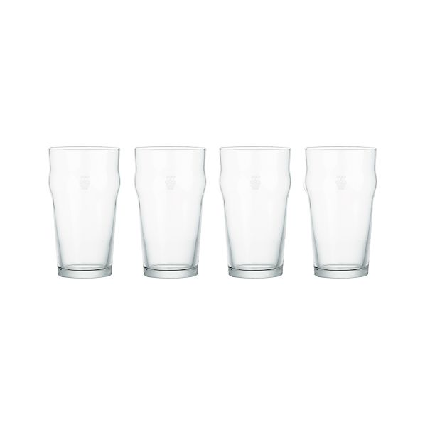 Set of 4 Pint Tumblers with Crown