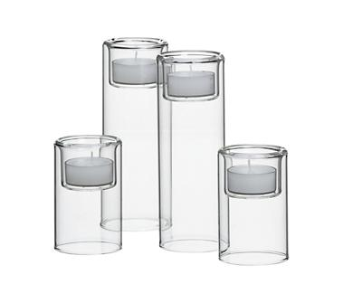 Crate and Barrel - Piper Candleholders shopping in Crate and Barrel Candlelight from crateandbarrel.com