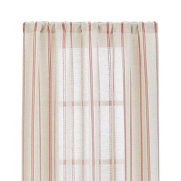 "Pippa Persimmon 50""x84"" Curtain Panel"