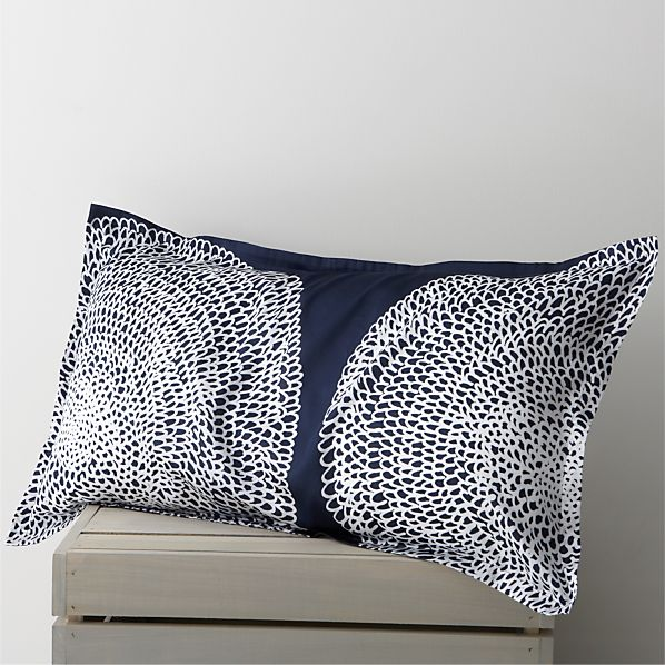 Pippurikera Navy King Pillow Sham