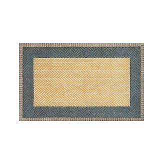 Piven Chevron Wool-Blend 5'x8' Rug