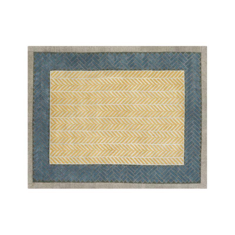 Piven Chevron Wool-Blend 8'x10' Rug