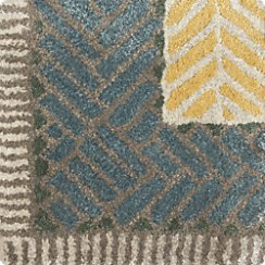 "Piven Chevron Wool-Blend 12"" Sq Rug Swatch"