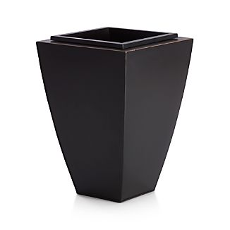 "Bronze 18.5"" Small Tapered Planter"