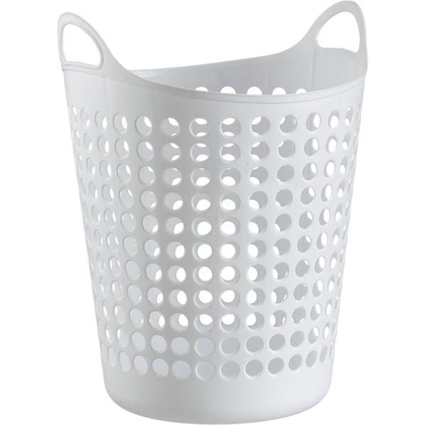 Large White Plastic Basket