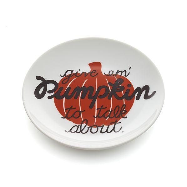 Pumpkin Pun Plate
