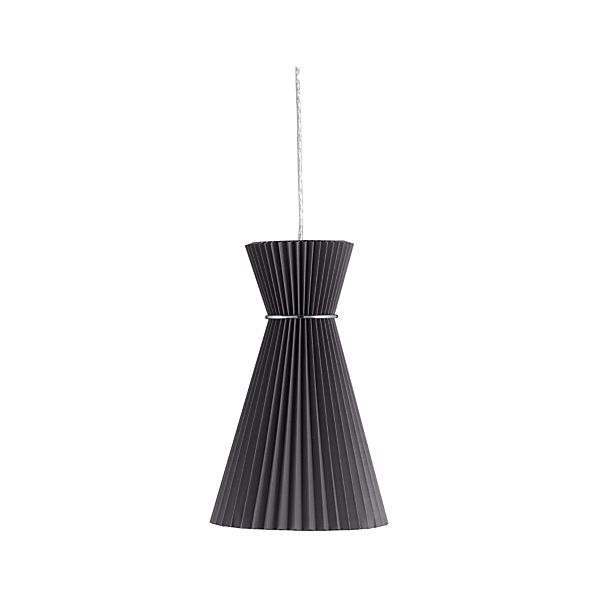 Pleat Grey Megaphone Pendant Lamp