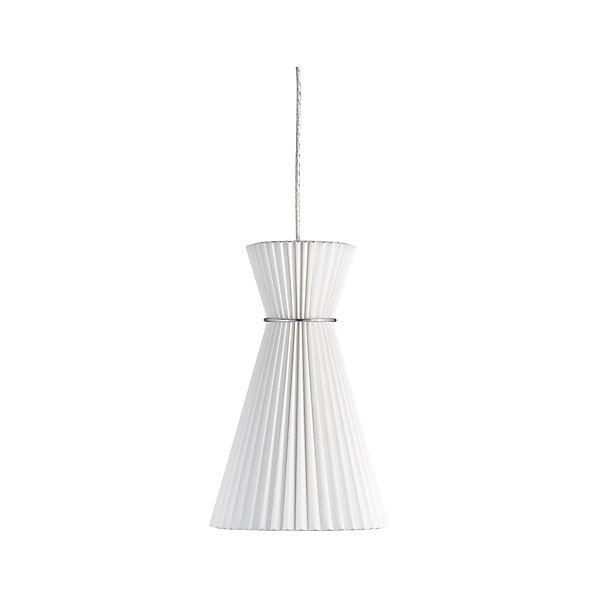Pleat White Megaphone Pendant Lamp