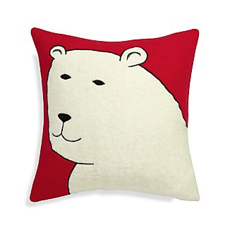 "Polar Bear 23"" Holiday Pillow"