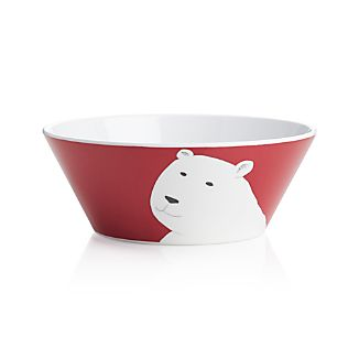 "Polar Bear 9"" Melamine Bowl"