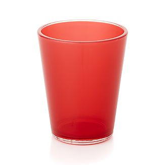 Pop Red Acrylic 15 oz. Drink Glass