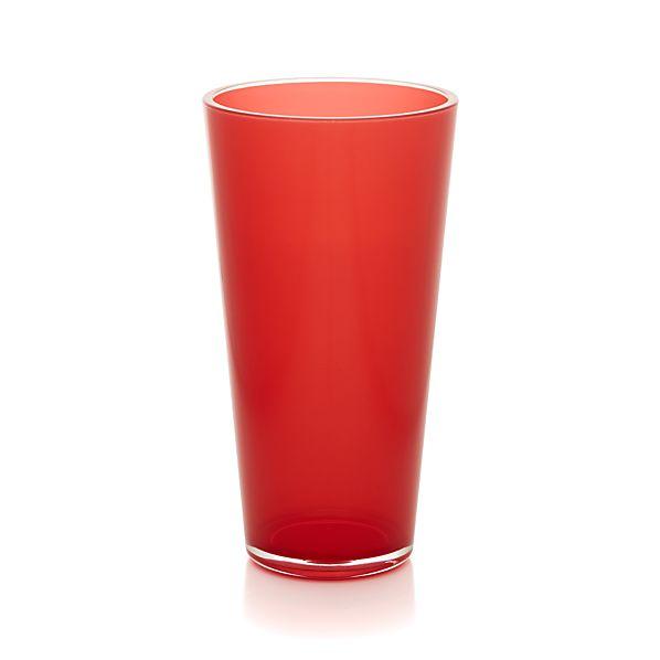 Pop Red Acrylic 24 oz. Drink Glass