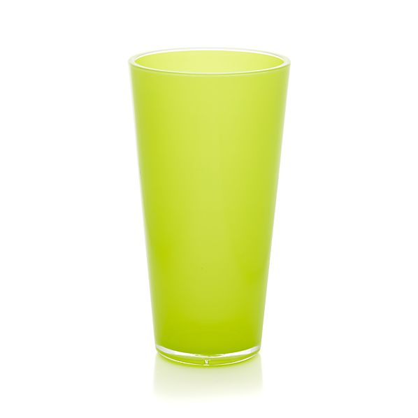 Pop Yellow Acrylic 24 oz. Drink Glass
