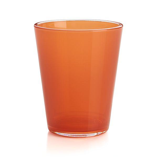 Pop Orange Acrylic 15 oz. Drink Glass