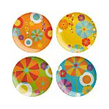Set of 4 Pop Flower Plates