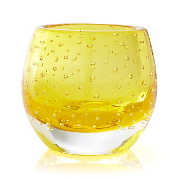 Pop Yellow Tea Light Holder