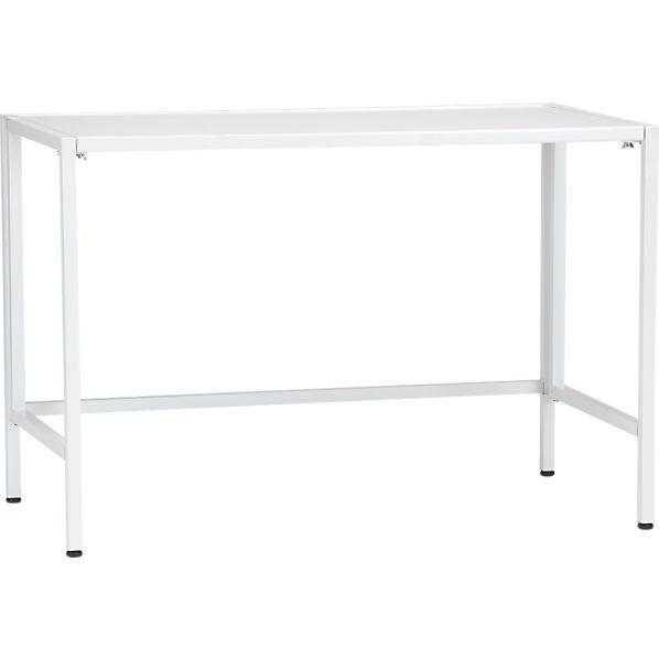 """Folding 44"""" White Utility Table"""