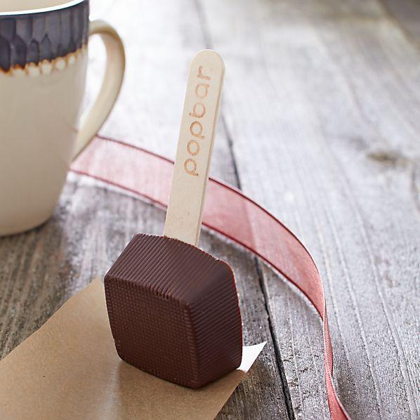 Hot Dark Chocolate on a Stick