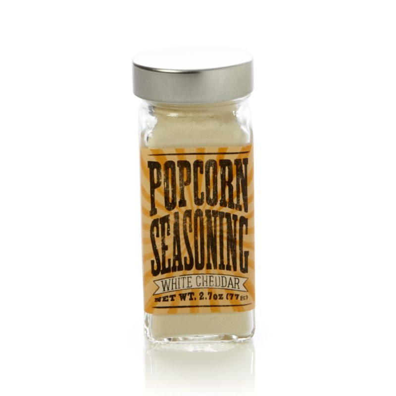 Delicious, MSG-free flavored seasoning puts a gourmet spin on one of America's favorite snacks.<br /><br /><NEWTAG/><ul><li>White Cheddar seasoning contains cheddar powder, buttermilk powder, whey, salt and disodium phosphate</li><li>Shelf life: 12 months</li><li>Gluten-free</li><li>Made in USA</li></ul>