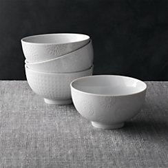 "Set of 4 Porcelain 4.25"" Rice Bowls"