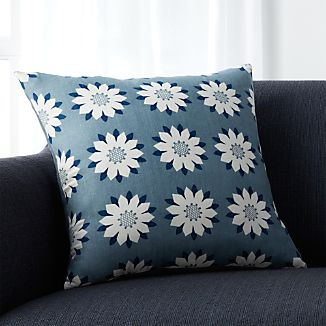 "Posie Blue 18"" Pillow"