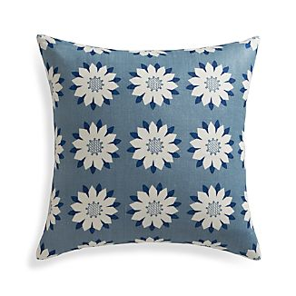 "Posie 18"" Pillow with Feather-Down Insert"