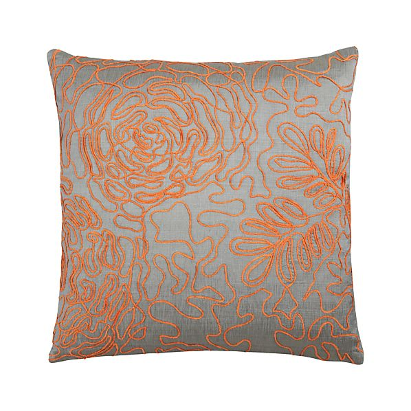 "Posy Orange 18"" Pillow"
