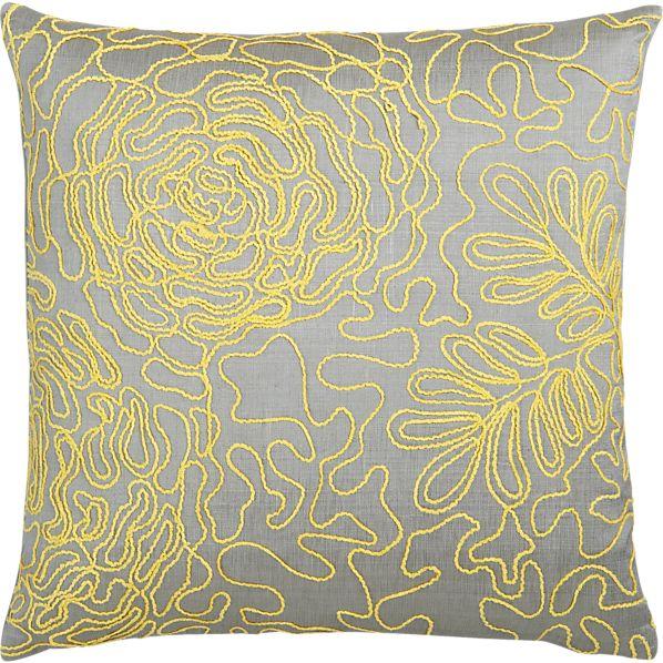 "Posy Yellow 18"" Pillow"