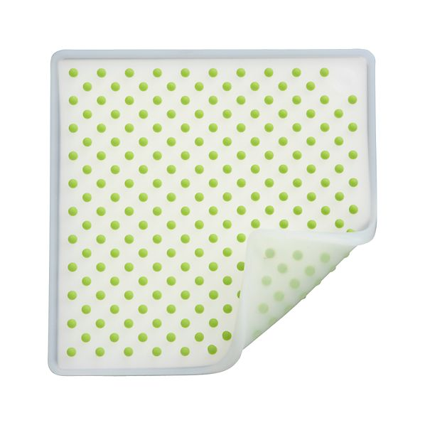 Silicone Green and White Potholder-Trivet