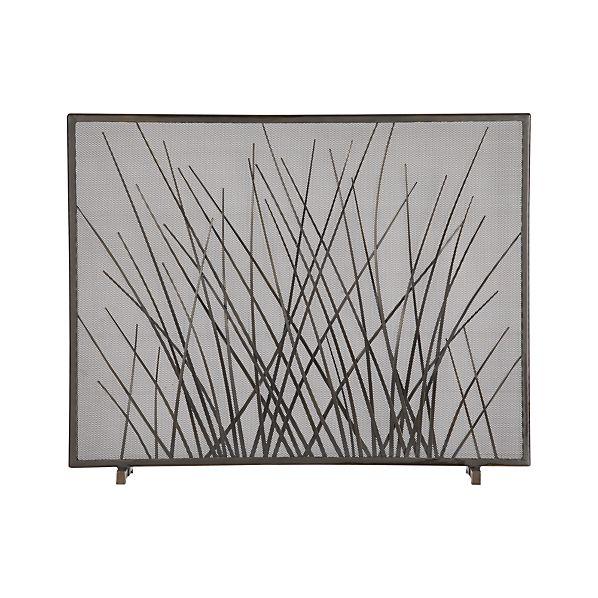 Prairie Grass Fireplace Screen