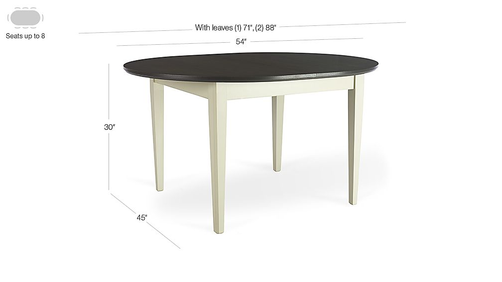 Pranzo Vamelie Oval Extension Dining Table Crate and Barrel : PranzoOvalExtnTable3QS15Dim from www.crateandbarrel.com size 1008 x 567 jpeg 21kB