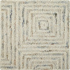 "Presley Neutral Wool 12"" sq. Rug Swatch"