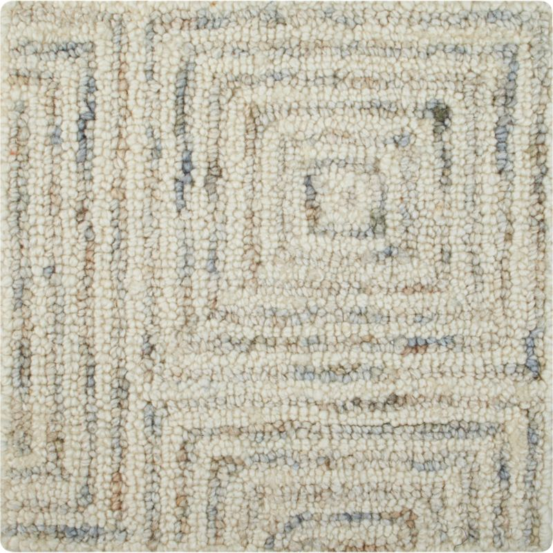 """Presley Neutral Wool 12"""" sq. Rug Swatch"""
