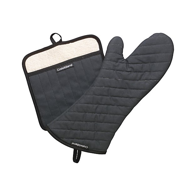 Professional pot holder and oven mitt crate and barrel - Kitchenaid oven gloves ...