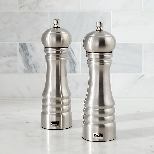 Stainless Steel Salt And Pepper Grinders Crate And Barrel