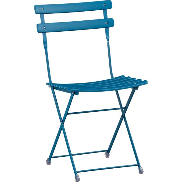 Pronto Blue Folding Bistro Chair