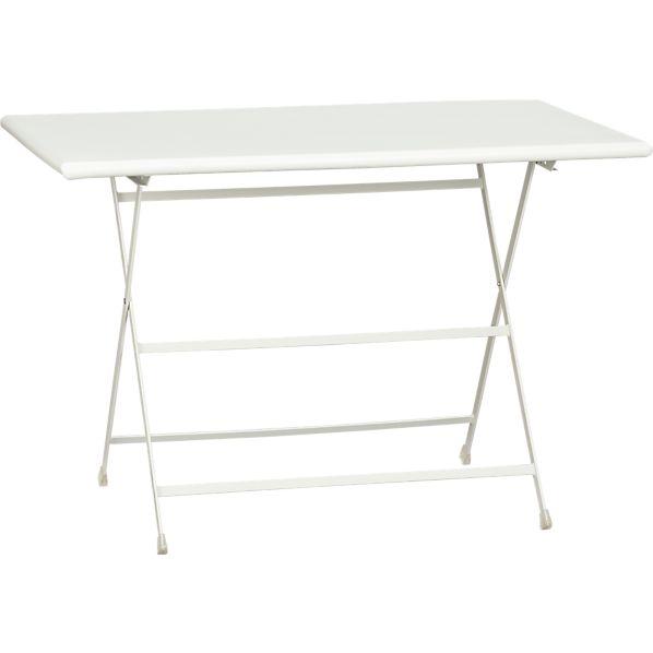 Pronto Large White Folding Bistro Table