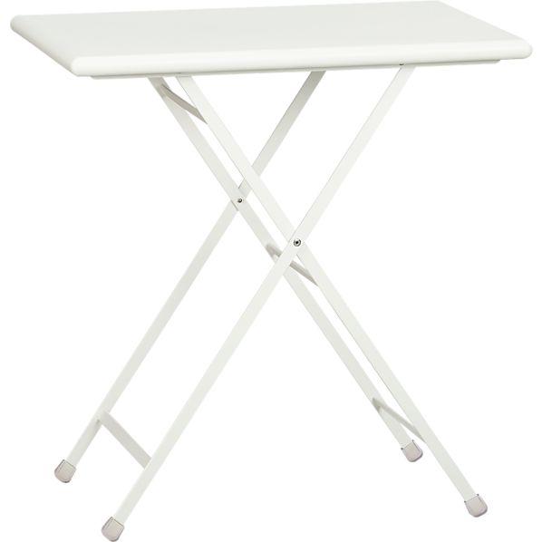 Pronto Small White Folding Bistro Table