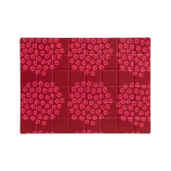 Marimekko Puketti Red and Pink Oilcloth Placemat