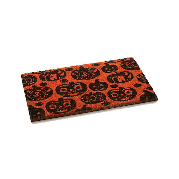 """Pumpkin 30""""x18"""" Doormat"""