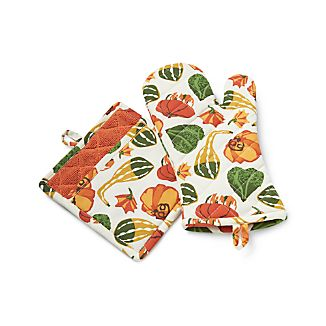 Pumpkin Gourd Oven Mitt and Pot Holder
