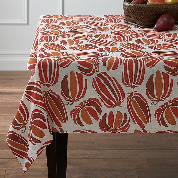 "Pumpkin Patch 60""x90"" Tablecloth"