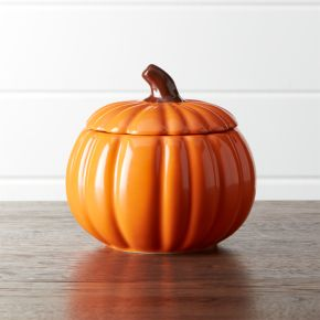 Small Pumpkin Serving Bowl with Lid