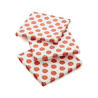 Set of 20 Pumpkins Paper Beverage Napkins