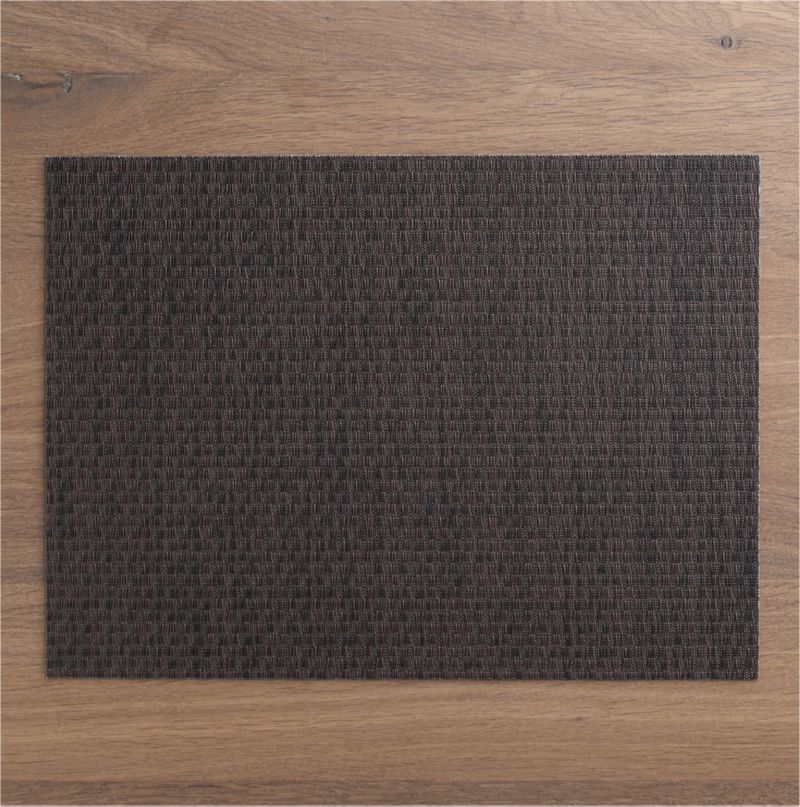 Chic bronze vinyl textures the table in our exclusive Chilewich® woven placemat.<br /><br /><NEWTAG/><ul><li>100% woven vinyl</li><li>Hand wash</li><li>Made in USA</li></ul>