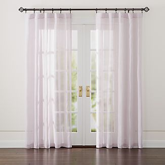 Linen Sheer Purple Curtains