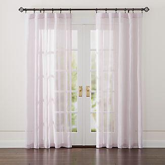 "Linen Sheer 52""x84"" Purple Curtain Panel"