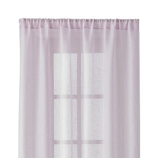 "Purple Linen Sheer 52""x96"" Curtain Panel"
