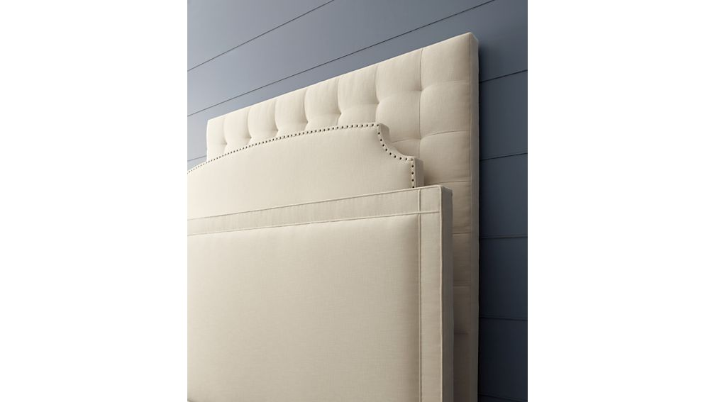 Curve Upholstered California King Headboard